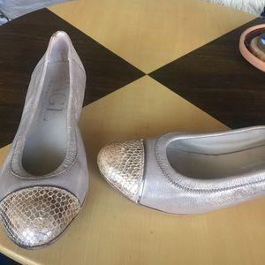 Attilio giusti leombruni AGL Low Heels gold silver